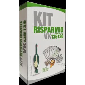Kit risparmio sacchetti per Folletto VK135 VK136