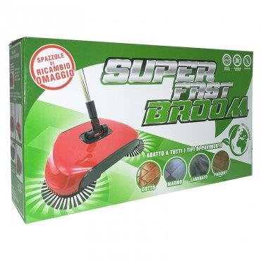 Super Fast Broom - scopa rotante ecologica.