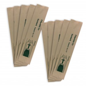 Sacchetti in carta 10 pezzi MADE IN ITALY per Folletto VK116 VK117
