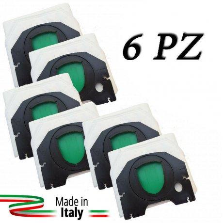 Sacchetti 6 pezzi in scatola per Folletto VK 200 220S made in italy