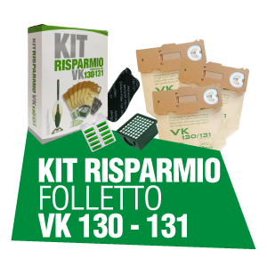 KIT RISPARMIO FOLLETTO VK 130 131
